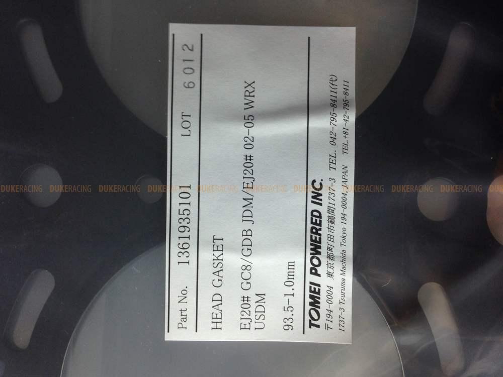 Tomei прокладка ГБЦ  93.5-1.0mm EJ20# GC8/GDB JDM/EJ20# 02-05 WRX USDM