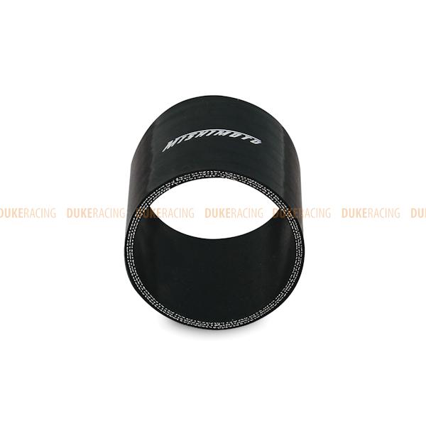 Патрубок силиконовый 76мм прямой черный, Mishimoto