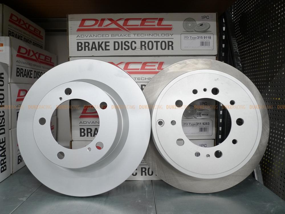 Тормозные диски Dixcel PD Toyota Land Cruiser 200 Lexus LX570 комплект перед+зад, 4 шт.