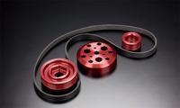 Toda комплект облегченных  шкивов и приводной ремень Honda F20C с ликвидацией кондиционера, Toda Racing