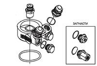Адаптер маслянного кулера (проставка) с термостатом Тип-Е M20x1.5-AN10, Greddy, 12401126, GReddy